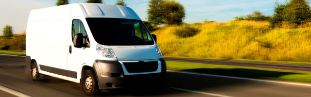 Cover Cannabis Business Auto Page Banner - Delivery Van Cruising Highway