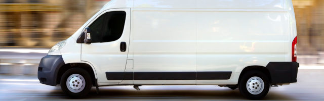 Cover Cannabis Delivery Service Page Banner - White Delivery Van