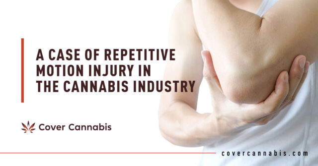Man Holding His Elbow - Banner Image for A Case of Repetitive Motion Injury in the Cannabis Industry Blog